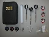 3 Chrom-Steel-Dart-Pfeile mit Dart-Tasche und Zubehör(2 - 1