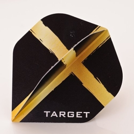 3 x SETS TARGET CHIZZY DAVE CHISNALL GOLD-SCHWARZE DARTS FLIGHTS - 1