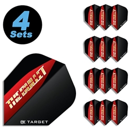 "4 Sets Target Flight (12 Stk.) Standard Stephen Bunting ""The Bullet"" - 1"