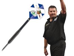Black Star Steel Dart Pfeile mit Gary Anderson Flights Darts - 1