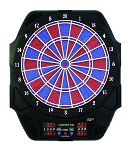 Carromco Erwachsene Electronisches Dart Matrix 501, Schwarz mit Blau-Roten Segmenten, 92415 - 1