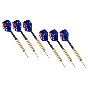 Darts Dartscheibe 4tlg. Michael van Gerwen Starter-Set 6 Steeldarts Dartboard - 3