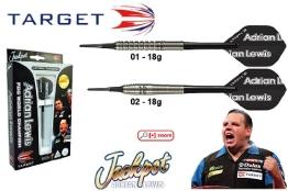 Darts TARGET Adrian Lewis Natur 90% Tungsten Softdarts 18g - 1