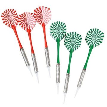 Elektronische Dartscheibe elektronisches Dartboard Darts Dartsport in drei verschiedenen Farben inkl. 6 Dartpfeilen - 5