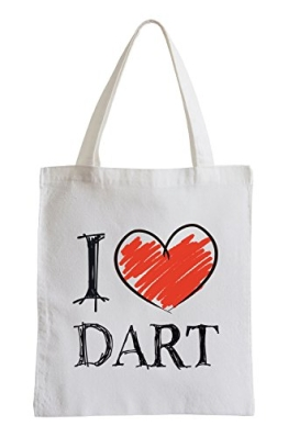 I love Dart Fun Jutebeutel - 1