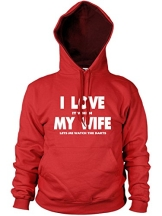 I love it when MY WIFE let me Armbanduhr die Darts Hoodie - 1