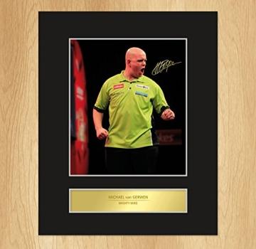 Michael van Gerwen Signiert Foto Display - 1