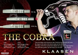 MONSTER JELLE KLAASEN HANDMADE DARTS THE COBRA 22g - 1