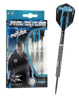 PHIL TAYLOR POWER-8ZERO, Steeldart 21g, inkl. 1 Satz EMPIRE®TM Flights GRATIS!!! - 1