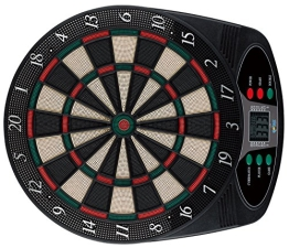 Solex Dartboard Electronic classic 8 Player 6 Soft Darts 24 Tips, mehrfarbig, 49 x 42 x 3 cm, 43317 - 1