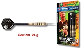 "Steeldart Winmau ""SIMON WHITLOCK BRASS"", 24 g., Original Simon Whitlock Steeldart in preiswerter Messing-Ausführung - 1"