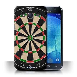 Stuff4 Hülle / Hülle für Samsung Galaxy J5/J500 / Darts/Dartpfeile Muster / Spiele Kollektion - 1