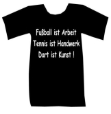 T-Shirt Dart ist Kunst.. schwarz - 1