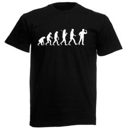 T-Shirt Evolution - Dartspieler - 1