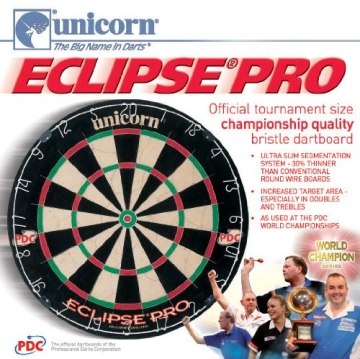 Unicorn Bristle Dartboard Eclipse, 054722794037 - 2