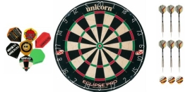 Unicorn Eclipse Pro Dartboard+2 Satz Darts+10 Satz McDart®Flights - 1